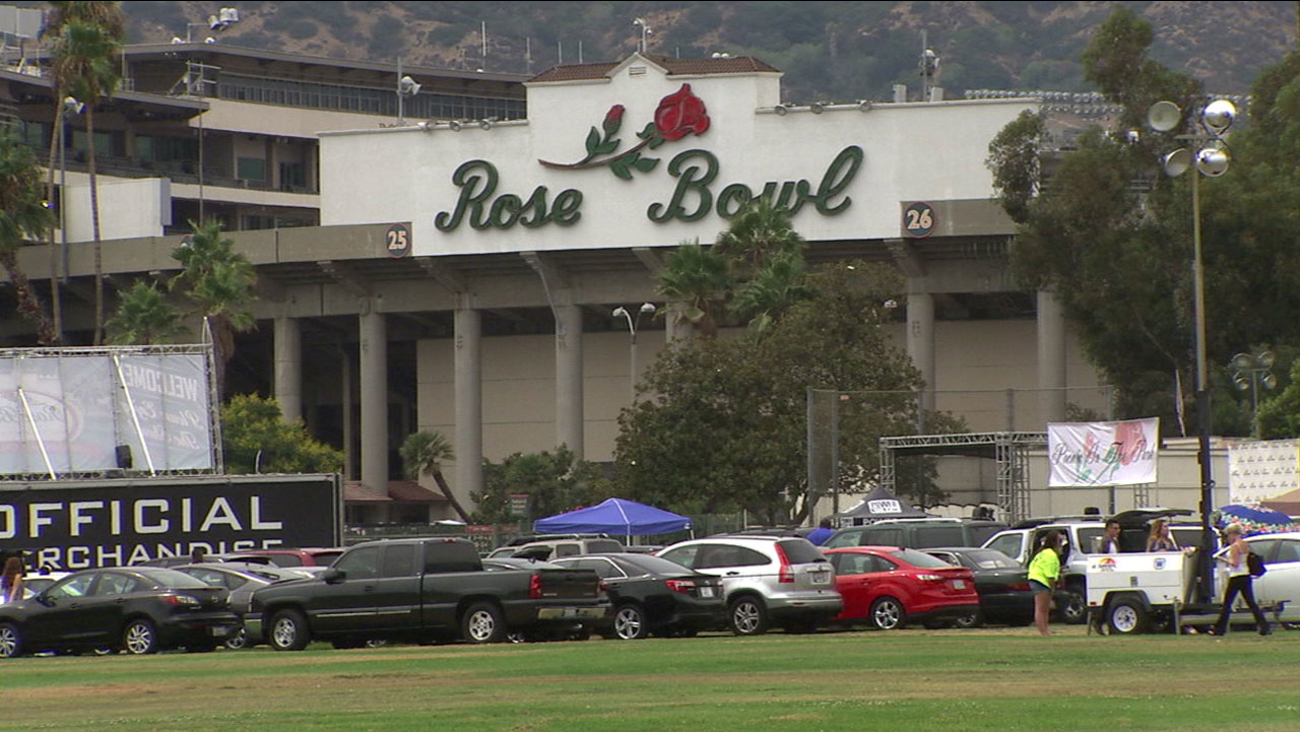 The Rose Bowl in Pasadena is shown in an undated file photo.
