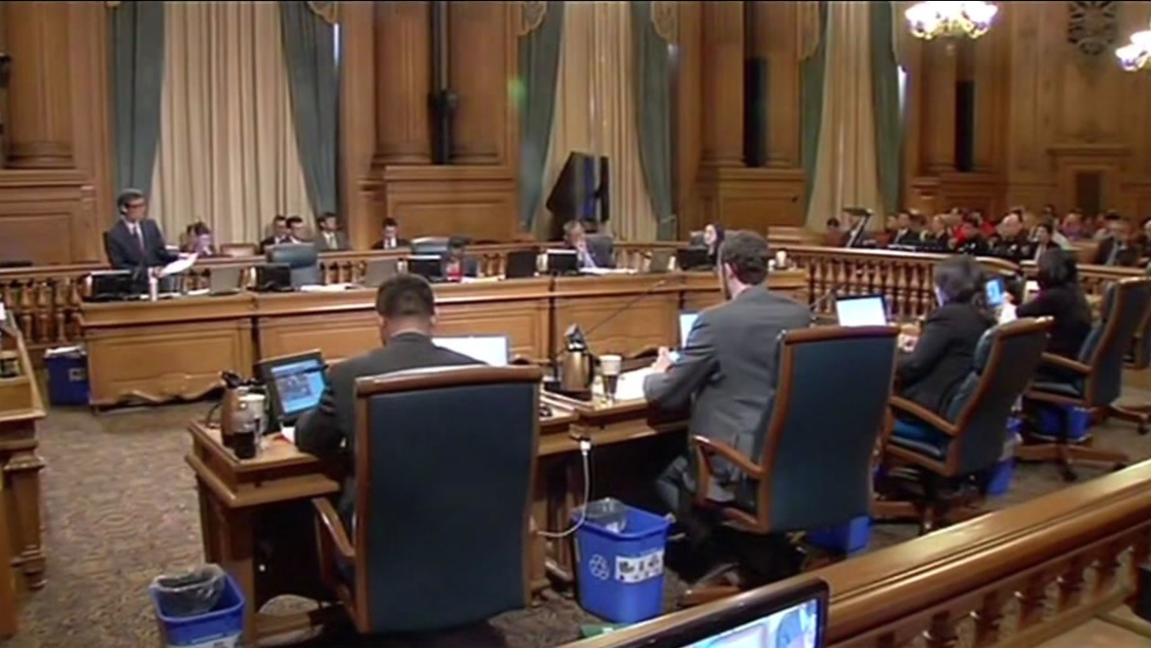 San Francisco supervisors hold a meeting in this undated photo.