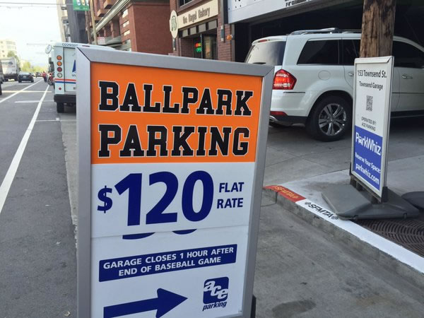"<div class=""meta image-caption""><div class=""origin-logo origin-image none""><span>none</span></div><span class=""caption-text"">This image show parking prices near AT&T Park on the the season opener in San Francisco April 7, 2016. (KGO-TV/ Juan Carlos Guerrero)</span></div>"