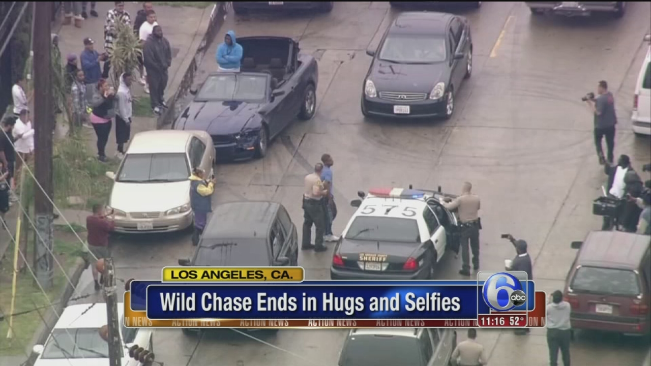 Burglary suspects in wild Los Angeles police chase