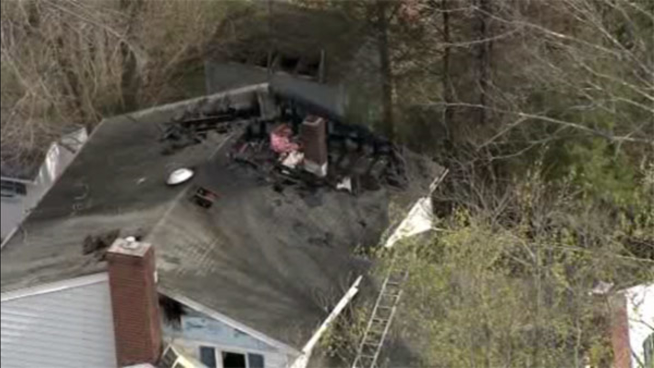 Crews battle 2-alarm house blaze in Montco