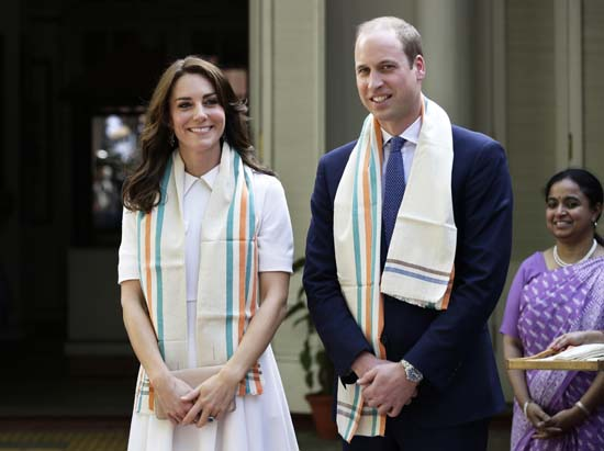 "<div class=""meta image-caption""><div class=""origin-logo origin-image ap""><span>AP</span></div><span class=""caption-text"">Britain's Prince William, and Kate, the Duchess of Cambridge, take a tour of Gandhi Smriti, where Mahatma Gandhi spent the last 144 days of his life (Saurabh Das/ Pool Photo via AP)</span></div>"
