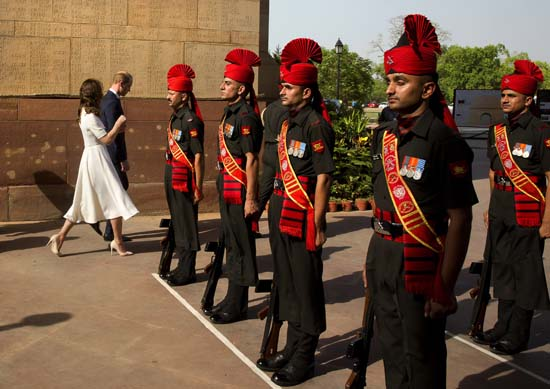 "<div class=""meta image-caption""><div class=""origin-logo origin-image ap""><span>AP</span></div><span class=""caption-text"">Britain's Prince William, along with his wife Kate, the Duchess of Cambridge leave after paying  their tributes at the India Gate war memorial (Manish Swarup/Pool Photo via AP)</span></div>"