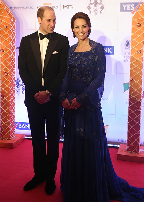 <div class='meta'><div class='origin-logo' data-origin='AP'></div><span class='caption-text' data-credit='Punit Paranjpe/Pool via AP'>Prince William, and his wife, Kate, the Duchess of Cambridge, pose after they arrive for a charity ball at the Taj Mahal Palace hotel in Mumbai, India, Sunday, April 10, 2016.</span></div>