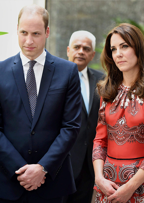 "<div class=""meta image-caption""><div class=""origin-logo origin-image none""><span>none</span></div><span class=""caption-text"">The Duke and Duchess of Cambridge, Prince William, and his wife Kate, stand after laying a wreath at the Taj Mahal Palace Hotel in Mumbai, India on April 10, 2016. (Mitesh Bhuvad/Pool via AP)</span></div>"