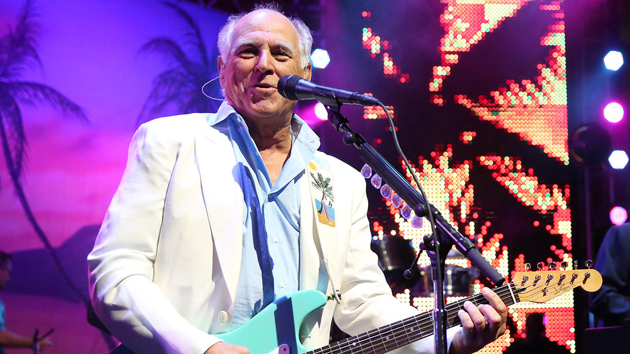 "In this June 9, 2015 file photo, Jimmy Buffett performs at the after party for the premiere of ""Jurassic World"" in Los Angeles."