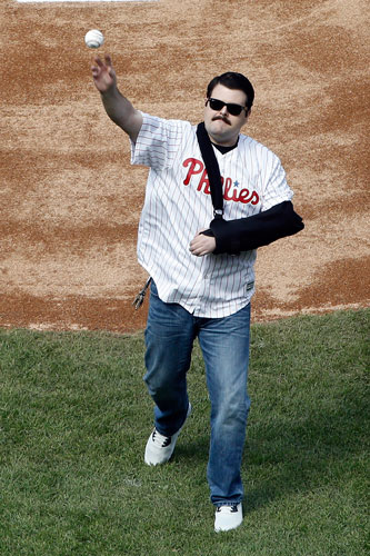 """<div class=""""meta image-caption""""><div class=""""origin-logo origin-image ap""""><span>AP</span></div><span class=""""caption-text"""">Philadelphia Police Officer Jesse Hartnett throws out a ceremonial pitch ahead of the Philadelphia Phillies home opening day baseball game against the San Diego Padres. (AP Photo/Matt Rourke)</span></div>"""