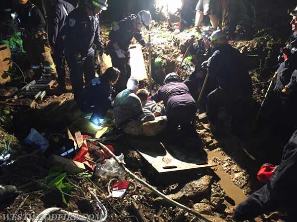"""<div class=""""meta image-caption""""><div class=""""origin-logo origin-image none""""><span>none</span></div><span class=""""caption-text"""">Rescue workers freed an injured boy who was stuck waist deep in muddy creek bed outside his Chester County home. (Fame Fire Company)</span></div>"""