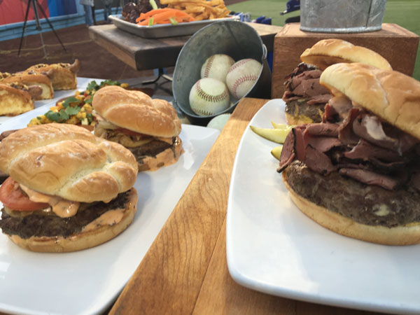 "<div class=""meta image-caption""><div class=""origin-logo origin-image none""><span>none</span></div><span class=""caption-text"">Gouda Kobe Burgers and BBQ Brisket Sandwiches are shown at Dodger Stadium. (KABC)</span></div>"