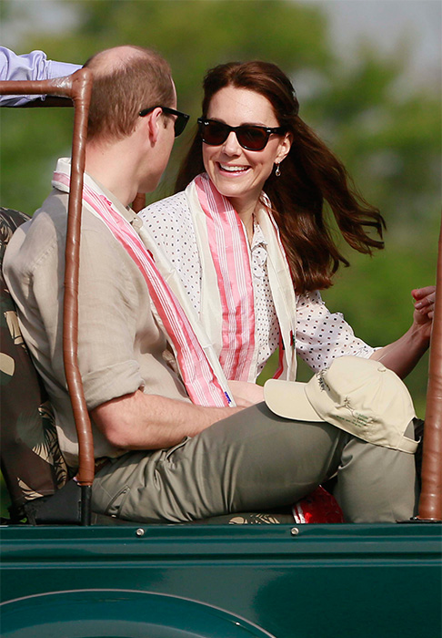 "<div class=""meta image-caption""><div class=""origin-logo origin-image ap""><span>AP</span></div><span class=""caption-text"">Prince William and his wife Kate prepare to set off on a jeep safari at Kaziranga National Park, northeastern Assam state, India Wednesday, April 13, 2016. (Anupam Nath/AP)</span></div>"