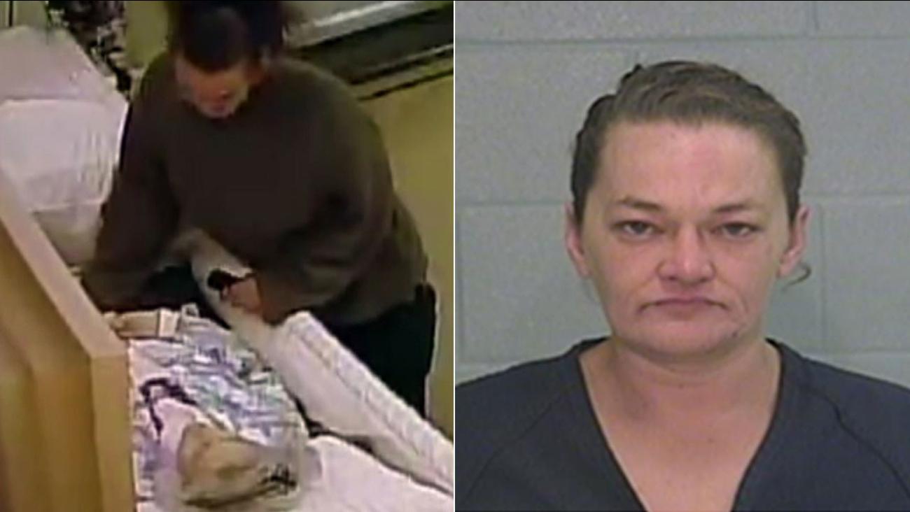 Kalynn Homfeld, 41, is seen in a booking photo released by police in Odessa, Texas.
