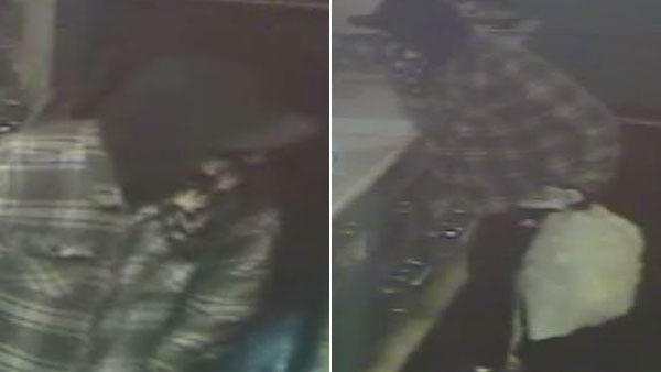 Surveillance images show a man burglarizing a pharmacy in Seal Beach.