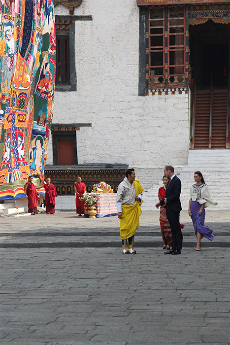 <div class='meta'><div class='origin-logo' data-origin='AP'></div><span class='caption-text' data-credit='Royal Kingdom of Bhutan via AP'>Bhutan's king Jigme Khesar Namgyel Wangchuk, Bhutan's queen, Jetsun Pema, Prince William and Kate are seen in Thimphu, Bhutan, Thursday, April 14, 2016.</span></div>