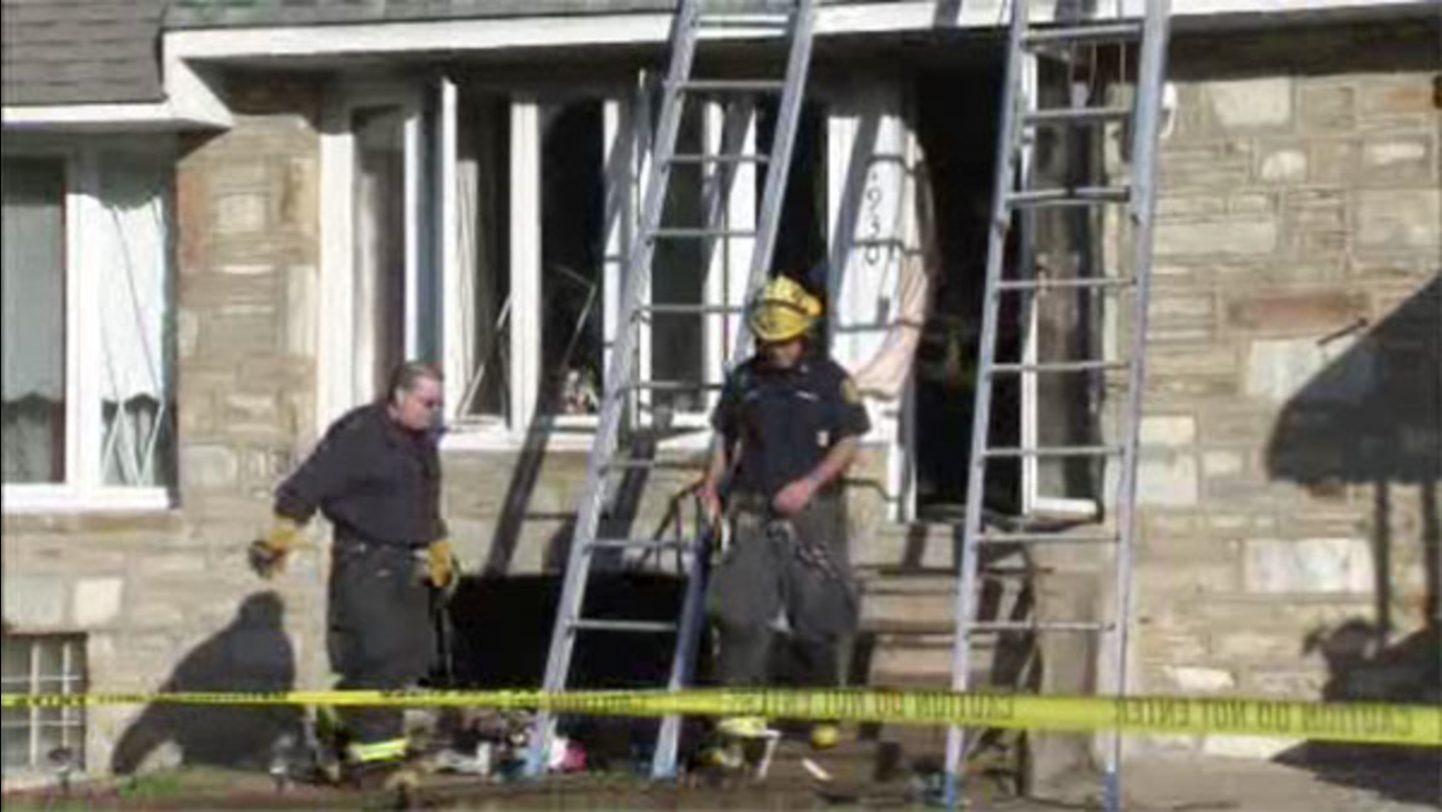 Crews battle basement fire inside NE Philadelphia home