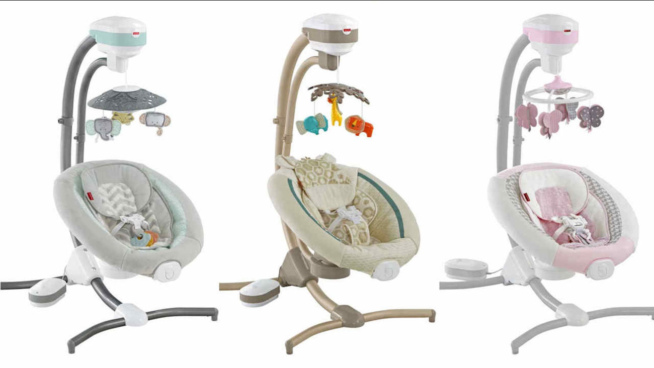 Fisher Price Recalls Infant Cradle Swings Due To Fall Hazard