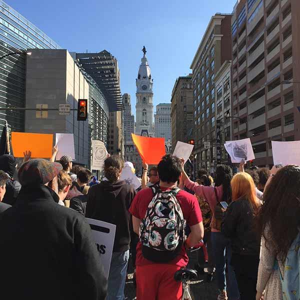 "<div class=""meta image-caption""><div class=""origin-logo origin-image wpvi""><span>WPVI</span></div><span class=""caption-text"">Large protest approaches City Hall.</span></div>"