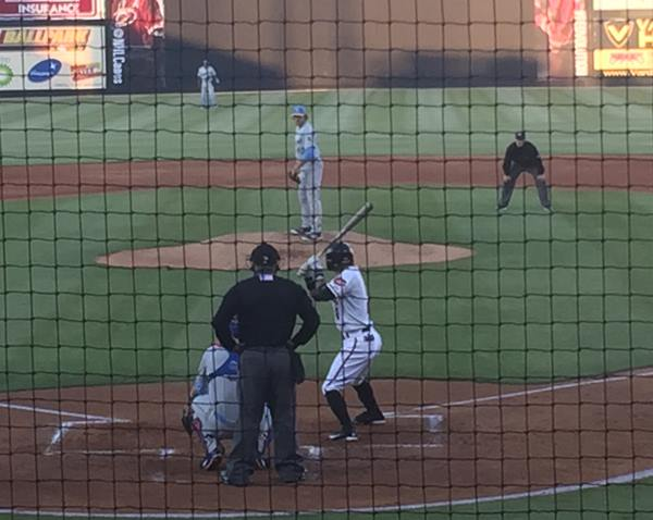 "<div class=""meta image-caption""><div class=""origin-logo origin-image wtvd""><span>WTVD</span></div><span class=""caption-text"">The Carolina Mudcats opened their home schedule Thursday, April 14, with a 3-2 win against Myrtle Beach at Five County Stadium in Zebulon. (Charlie Mickens)</span></div>"