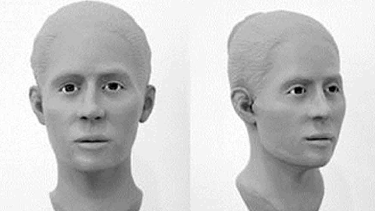 Facial reconstruction rendering photos released by the Orange County Sheriff's Department of a woman found dead in the Casper's Wilderness Park in 2014.