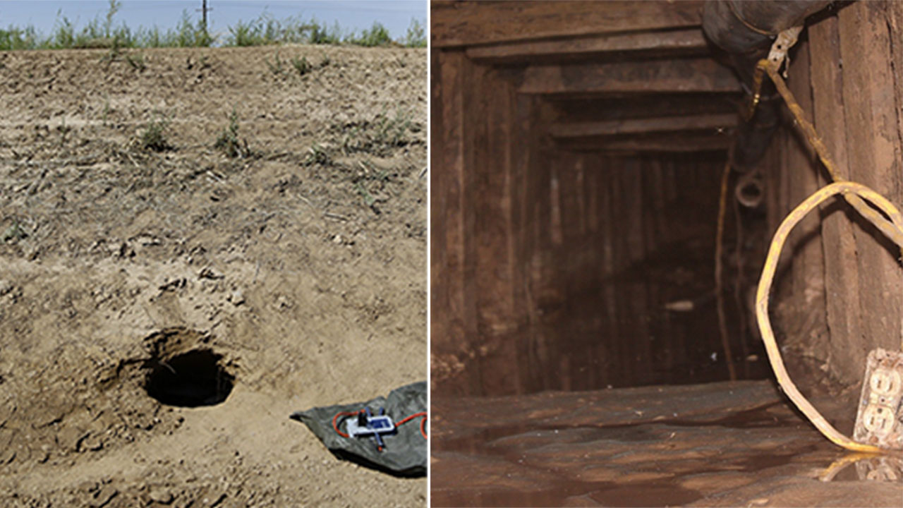Border Patrol agents found a 142-foot tunnel at Calexico that was outfitted with wood with wood sides and electrical wiring.