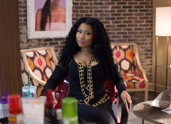 """<div class=""""meta image-caption""""><div class=""""origin-logo origin-image ap""""><span>AP</span></div><span class=""""caption-text"""">In this image released by Warner Bros., Nicki Minaj appears in a scene from """"Barbershop: The Next Cut."""" (Chuck Zlotnick/Warner Bros. via AP)</span></div>"""