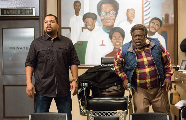 """<div class=""""meta image-caption""""><div class=""""origin-logo origin-image ap""""><span>AP</span></div><span class=""""caption-text"""">In this image released by Warner Bros., Ice Cube, left, and Cedric The Entertainer appear in a scene from """"Barbershop: The Next Cut."""" (Chuck Zlotnick/Warner Bros. via AP)</span></div>"""