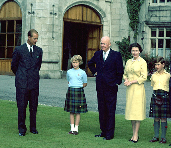 "<div class=""meta image-caption""><div class=""origin-logo origin-image none""><span>none</span></div><span class=""caption-text"">President Eisenhower, centers, meets with the royal family in Scotland in 1959. (AP Photo)</span></div>"