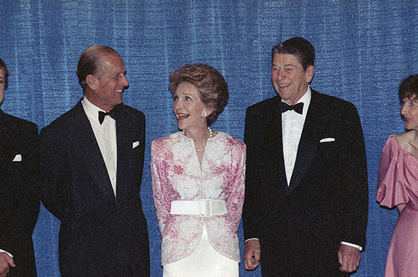 "<div class=""meta image-caption""><div class=""origin-logo origin-image none""><span>none</span></div><span class=""caption-text"">His Royal Highness The Prince Philip, Duke of Edinburgh, shares a laugh with former President Ronald Reagan, right, and Nancy Reagan at a dinner in Beverly Hills, Calif., in 1989. (AP Photo/Doug Pizac)</span></div>"
