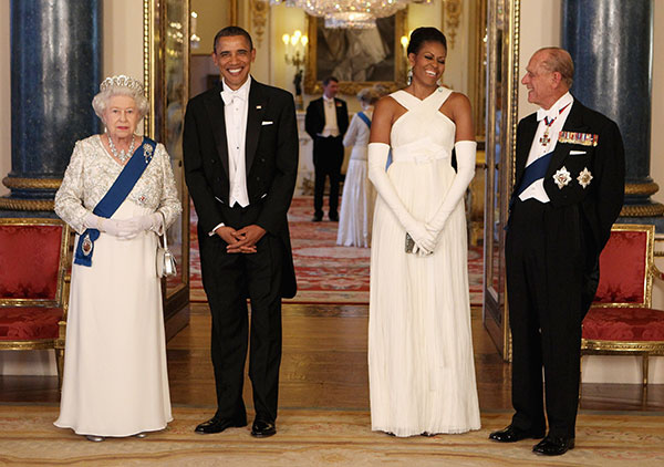 "<div class=""meta image-caption""><div class=""origin-logo origin-image none""><span>none</span></div><span class=""caption-text"">Queen Elizabeth II, U.S. President Barack Obama, first lady Michelle Obama and Prince Philip in Buckingham Palace in 2011. (AP Photo/Chris Jackson, Pool)</span></div>"
