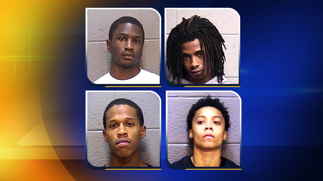 Top, from left, Darryl Lamont Moye, Marquis Kejuan Burnett. Bottom from left, Devonte Lamar Jackson, E'Monie Wilds.