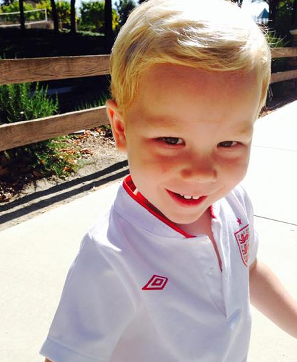 "<div class=""meta image-caption""><div class=""origin-logo origin-image ""><span></span></div><span class=""caption-text"">Christian, age 2, all kitted out in his England soccer kit. Send your photos to uReport@kgo-tv.com.</span></div>"