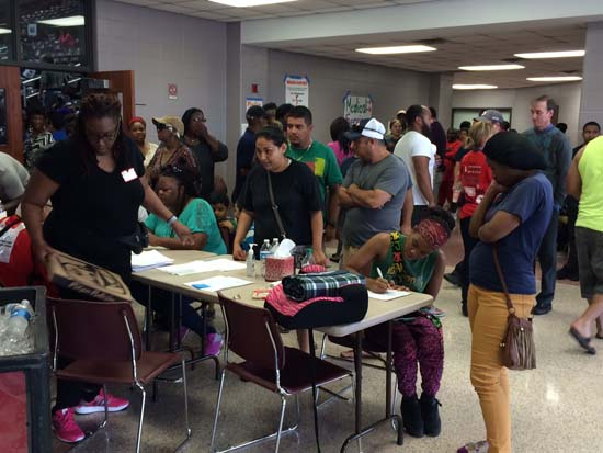 """<div class=""""meta image-caption""""><div class=""""origin-logo origin-image ktrk""""><span>KTRK</span></div><span class=""""caption-text"""">Inside look at the Red Cross shelter at the MO Campbell Education Center, which serves Greenspoint flood evacuees</span></div>"""