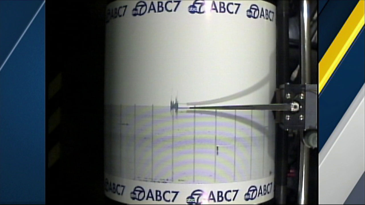 An earthquake in Idyllwild was captured on the ABC7 Quake Cam on Wednesday, April 20, 2016.