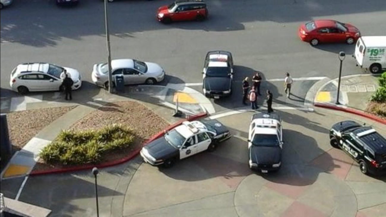 Police respond to reports of a shooting on Warren Drive and Locksley Avenue in San Francisco, Calif. on Wednesday, April 20, 2016.