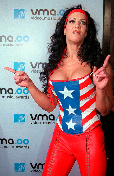 "<div class=""meta image-caption""><div class=""origin-logo origin-image none""><span>none</span></div><span class=""caption-text"">WWF wrestler and actress Joan Marie Laurer, better known as Chyna, was found dead on April 20. She was 46. (AP Photo/Tina Fineberg, File)</span></div>"