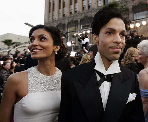 <div class='meta'><div class='origin-logo' data-origin='none'></div><span class='caption-text' data-credit='Kevork Djansezian/AP Photo'>Prince arrives with his wife Manuela Testolini for the 77th Academy Awards in Feb. 2005, in Los Angeles.</span></div>