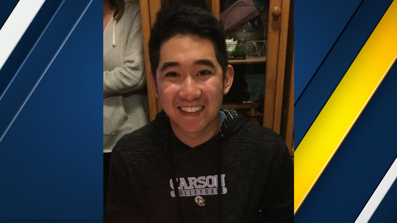 Justin Uy, 18, is seen in a photo provided by the Los Angeles County Sheriff's Department.