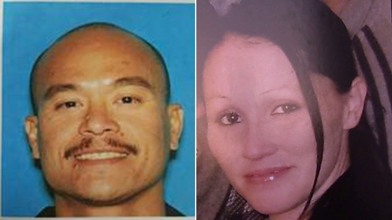 Undated photos of Philip Policarpio, left, sentenced in the shooting death of his girlfriend, Lauren Olguin, right.
