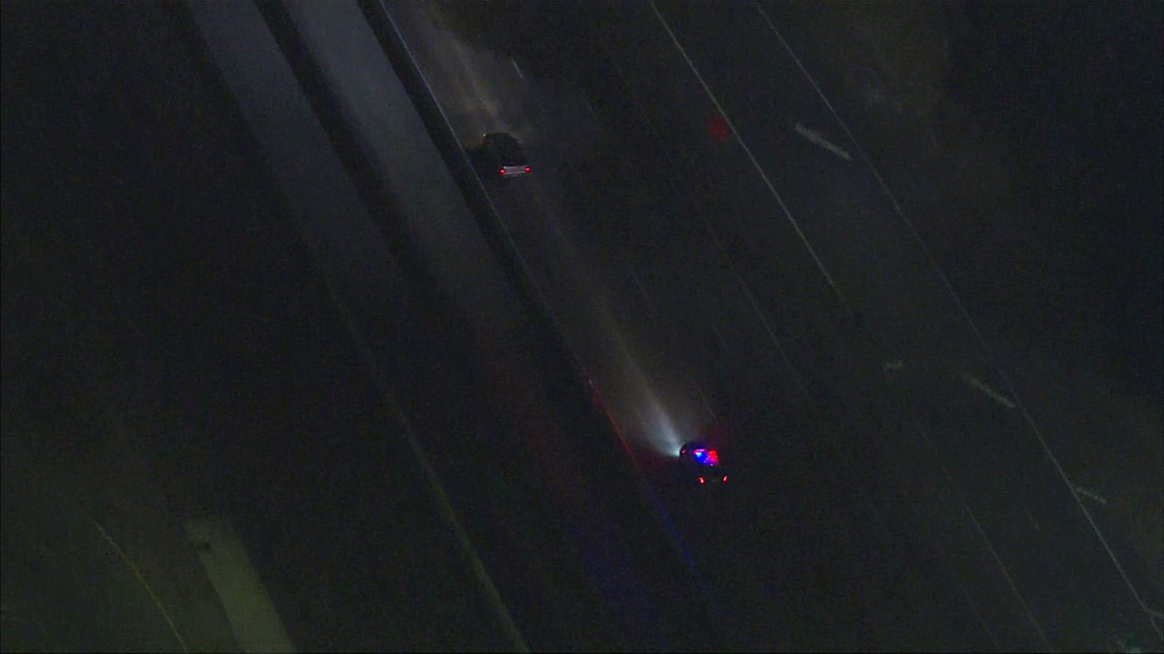 A police chase began on the 134 Freeway in Pasadena on Friday, April 22, 2016.