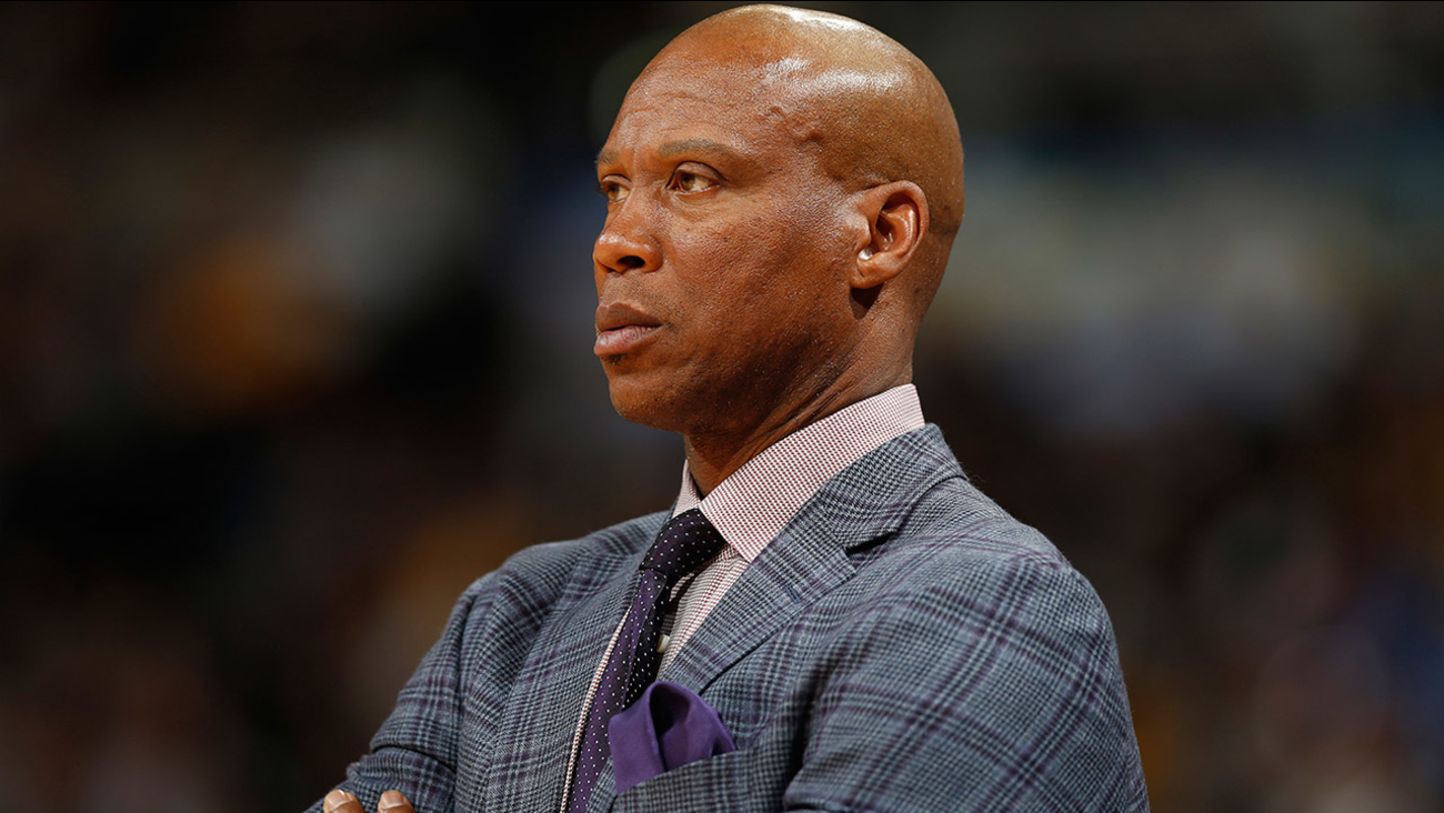 Los Angeles Lakers head coach Byron Scott in the second half of an NBA basketball game Wednesday, March 2, 2016, in Denver.
