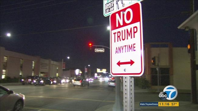Photos: Naked Donald Trump Statue Pops Up In Los Feliz | LAist