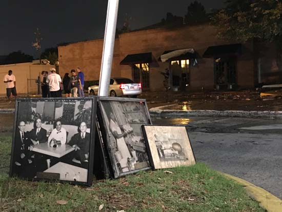 <div class='meta'><div class='origin-logo' data-origin='KTRK'></div><span class='caption-text' data-credit='KTRK'>Paintings and photos salvaged from the devastating overnight fire at Cleburne Cafeteria</span></div>