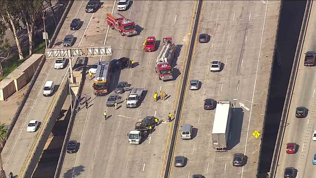 Crash Shuts All Eastbound Lanes Of 134 Freeway In Glendale