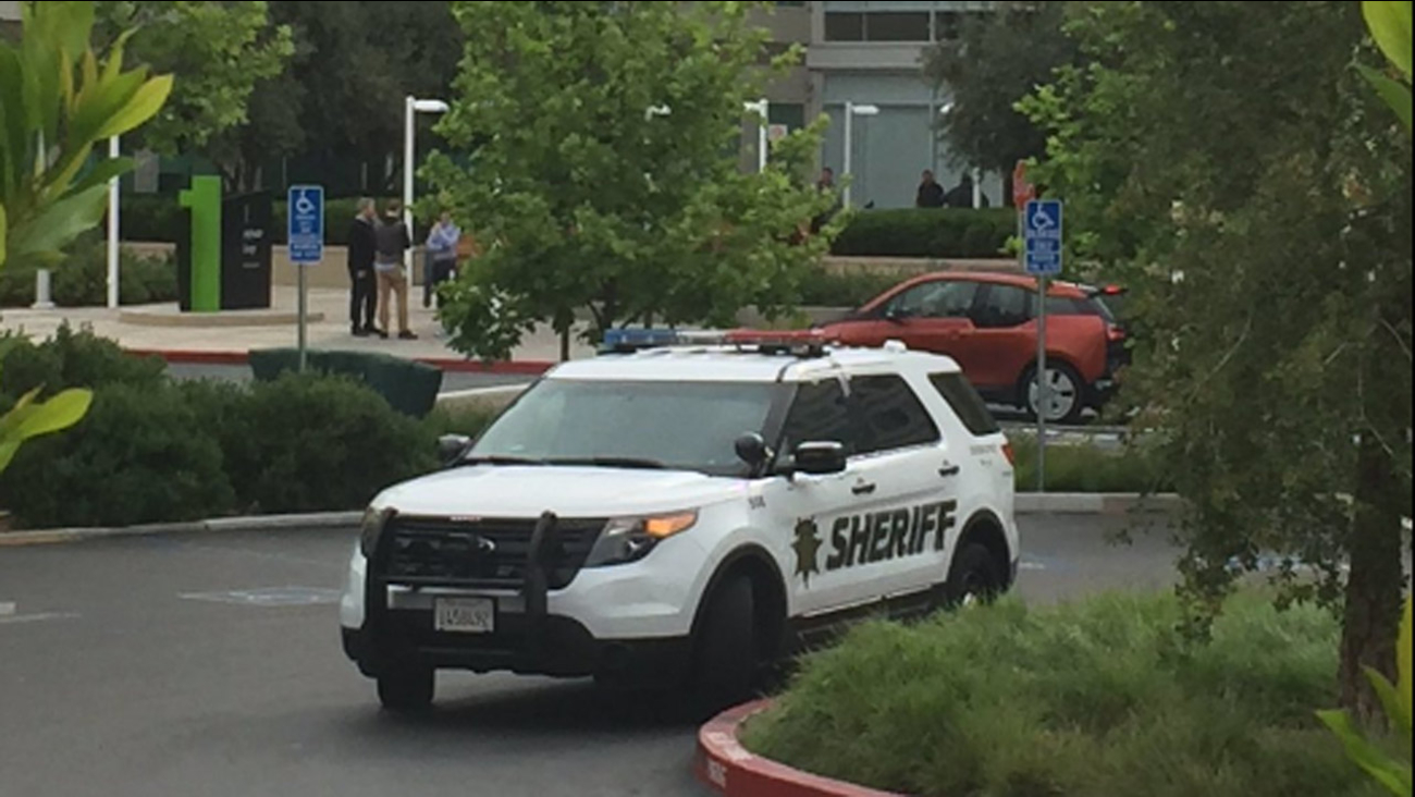 The Santa Clara County Sheriff's Department is investigating a death at Apple's headquarters in Cupertino, California, Wednesday, April 27, 2016.