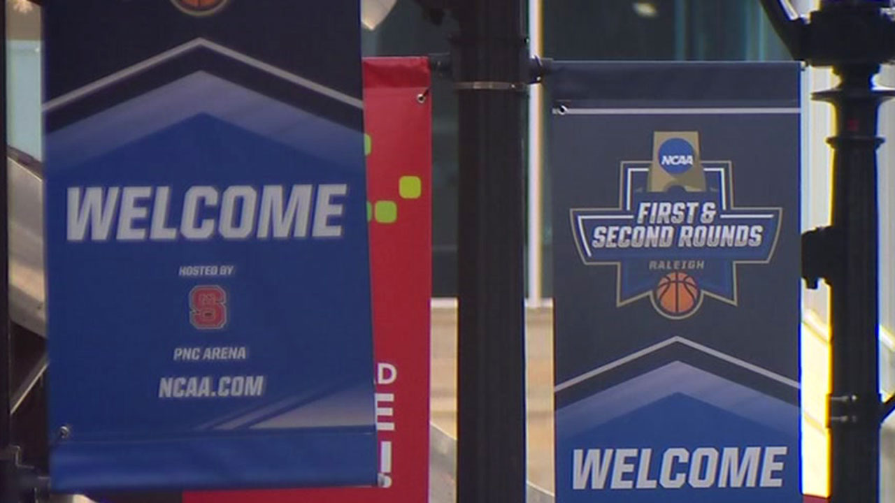 Raleigh hosted this year's first two games of the NCAA tournament in March.