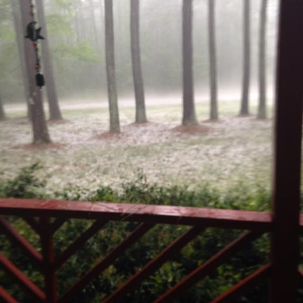 "<div class=""meta image-caption""><div class=""origin-logo origin-image wtvd""><span>WTVD</span></div><span class=""caption-text"">In Dobson. Severe storms brought hail, winds to Central North Carolina on Thursday, April 28. (ABC11 Eyewitness)</span></div>"