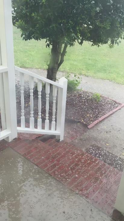 "<div class=""meta image-caption""><div class=""origin-logo origin-image wtvd""><span>WTVD</span></div><span class=""caption-text"">Severe storms brought hail, winds to Central North Carolina on Thursday, April 28. (ABC11 Eyewitness)</span></div>"