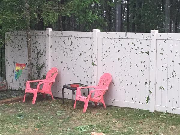"<div class=""meta image-caption""><div class=""origin-logo origin-image wtvd""><span>WTVD</span></div><span class=""caption-text"">Severe storms brought hail, winds to Central North Carolina on Thursday, April 28. (Vann Holland/ABC11 Eyewitness)</span></div>"