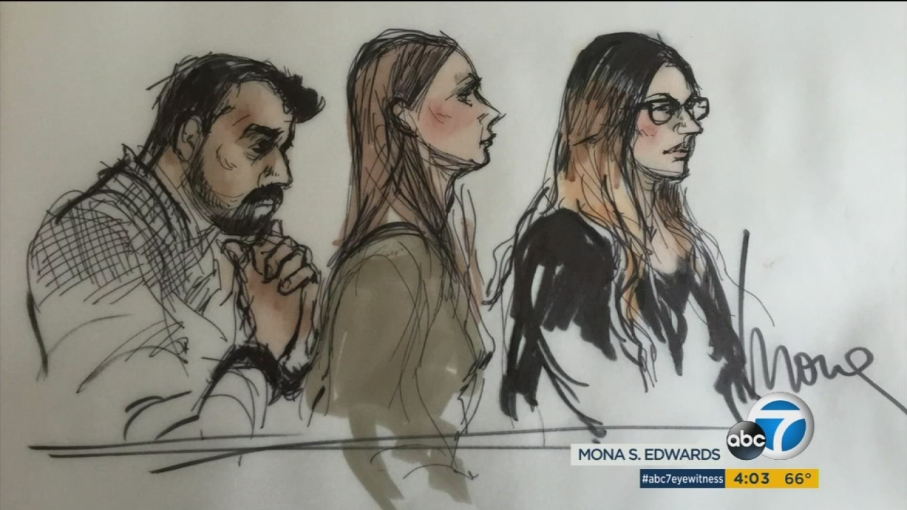 Syed Raheel Farook, Tatiana Farook and Mariya Chernykh are shown in court during their arraignment on Thursday, April 28, 2016.