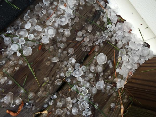 "<div class=""meta image-caption""><div class=""origin-logo origin-image wtvd""><span>WTVD</span></div><span class=""caption-text"">Hail at a front door in the Bunnlevel / Fonville area. (ABC11 Eyewitness)</span></div>"