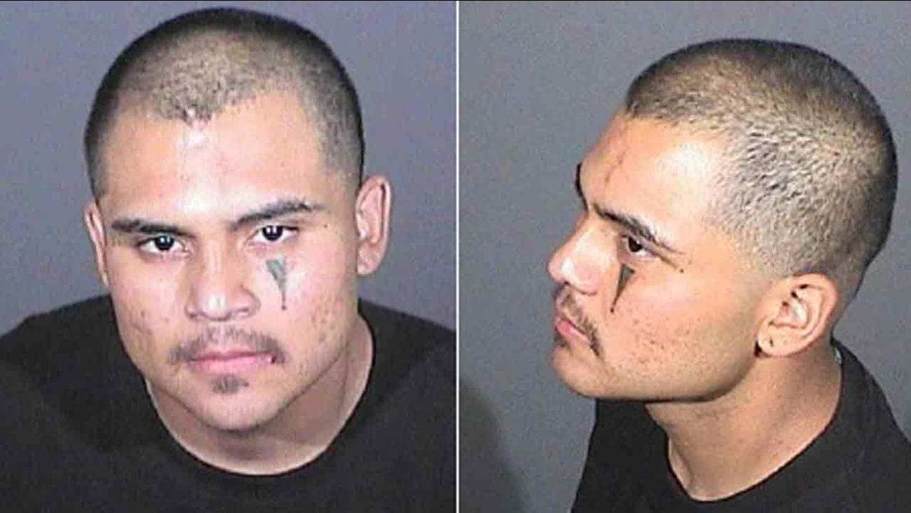 Cesar Antonio Bobadilla in a booking photo released by the El Monte Police Department on Saturday, April 30 , 2016.